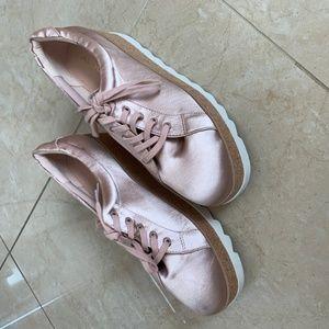Aldo Shoes - NWOT Aldo Pink Satin Platform Sneakers.